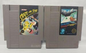 Slalom-Skate-or-Die-Skateboarding-Nintendo-NES-Authentic-Game-Tested-Works