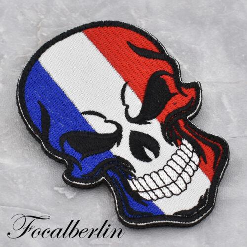 Skelett Flag Serie Patch Aufnäher UK USA Frankreich Russland Israel 1x Nähen DIY