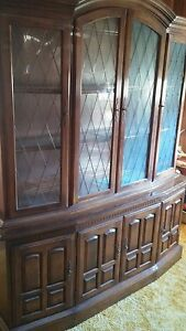 Ethan Allen Furniture Hutch China Closet Cabinet Dining