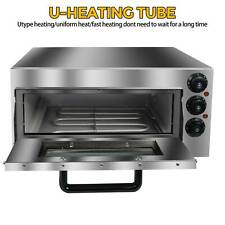 110v 1400w Commercial Electric Pizza Oven Toaster Single Deck Bake Broiler Oven