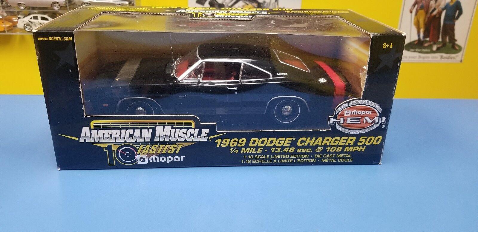 American Muscle 1969 Dodge Charger 500 50esimo Anniversario Nero