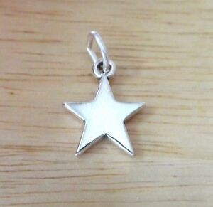 Sterling Silver 12mm Small 5 Point Dallas Double Star Cowboy Charm
