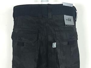 Black Camo Pro Club Cargo Shorts Twill Mens Casual Tactical Combat 100% Cotton