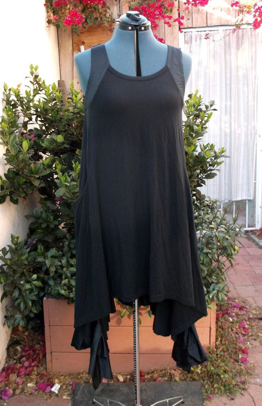 Yohji Yamamoto Y-3 harness dress deconstructed ruffled bubbled hem NWT rtl