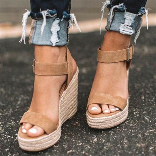 Summer High Wedges Heel Sandals Open Toe Platform Shoes For Women Sandal Shoes@