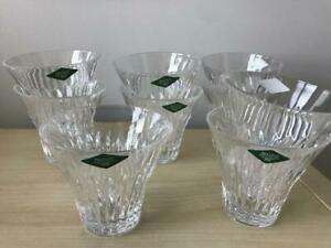 NWT-Shannon-Crystal-Design-of-Ireland-Set-Of-9-Stemless-Wine-Martini-Glasses