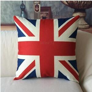 820bc182757 British Flag Cotton Pillowcase 38CM Throw Pillow Case Cushion Cover ...