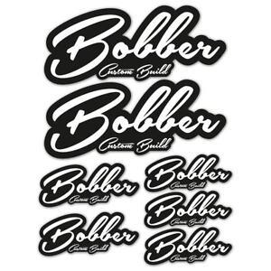 Bobber-Custom-Build-Laminated-Sticker-Set-motorbike-motorcycle-Biker
