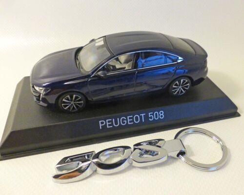 Peugeot 508-2018 1:43 blau-Met incl Schlüsselanhänger NOREV