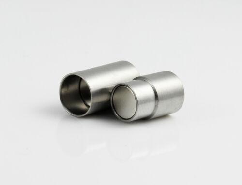 Edelstahl Magnetverschluss matt  Ø 6 mm Schmuck herstellen armband ID6