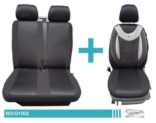 VW SPRINTER LT Crafter 1+2 Sièges conducteur avec Double Banquette Siège Auto Housses g101