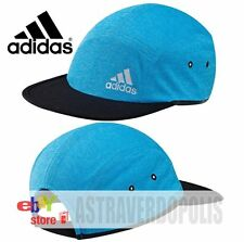 69b8dccf82d Adidas Blue CAP Climachill 5P Headwear Five-Panel Hat Run Boost SIZE OSFM