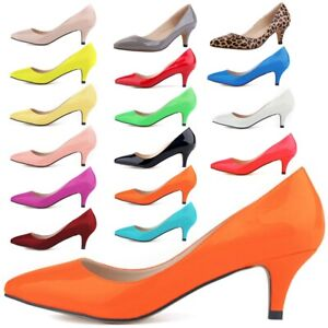 WOMENS-LADIES-LOW-MID-KITTEN-HEEL-PUMPS-POINTED-TOE-COURT-WORK-OFFICE-SHOES-SIZE