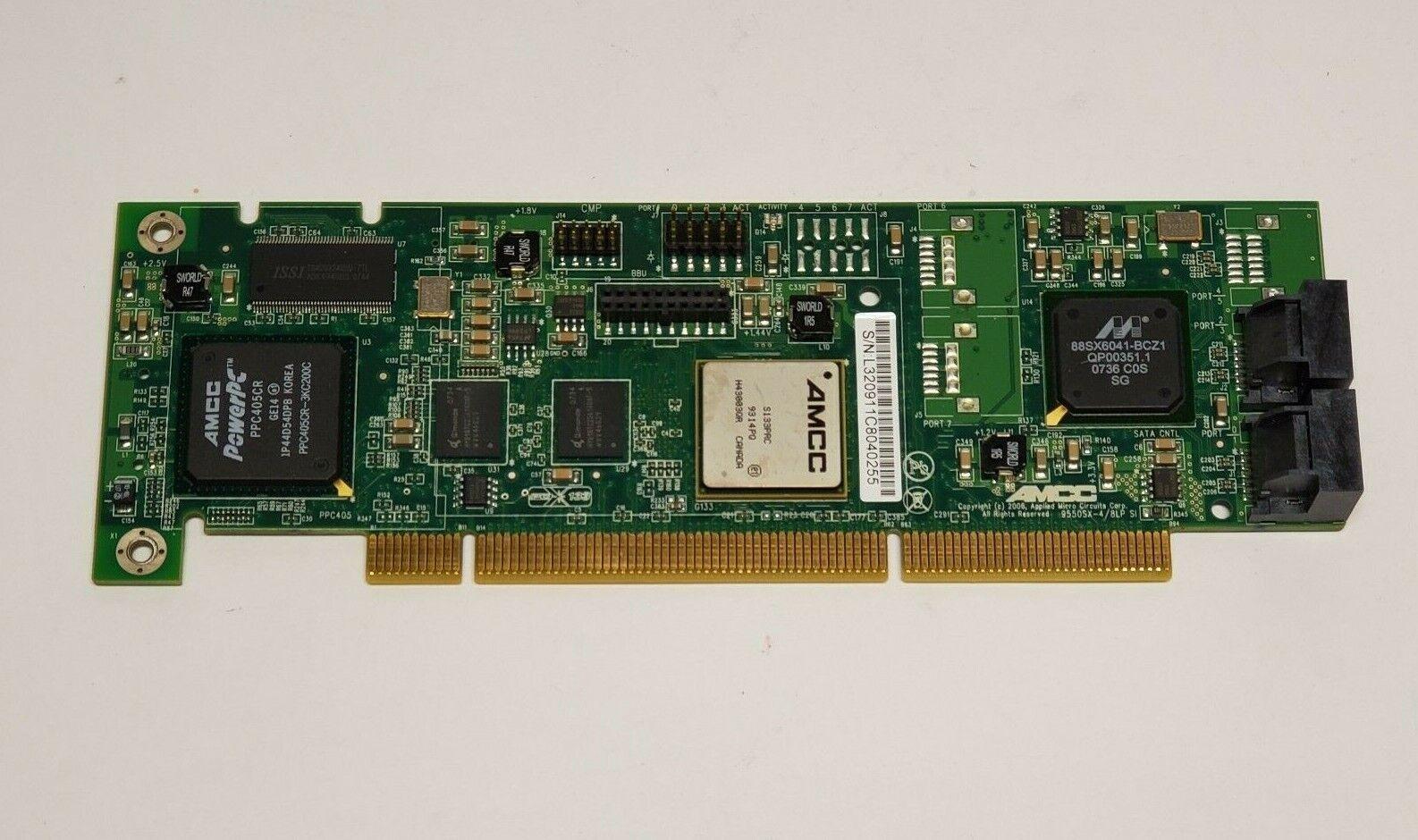 AMCC 3WARE 9550SXU-4LP LOWPRO PCI 64BIT SATA RAID CONTROLLER 701-3209-11 C