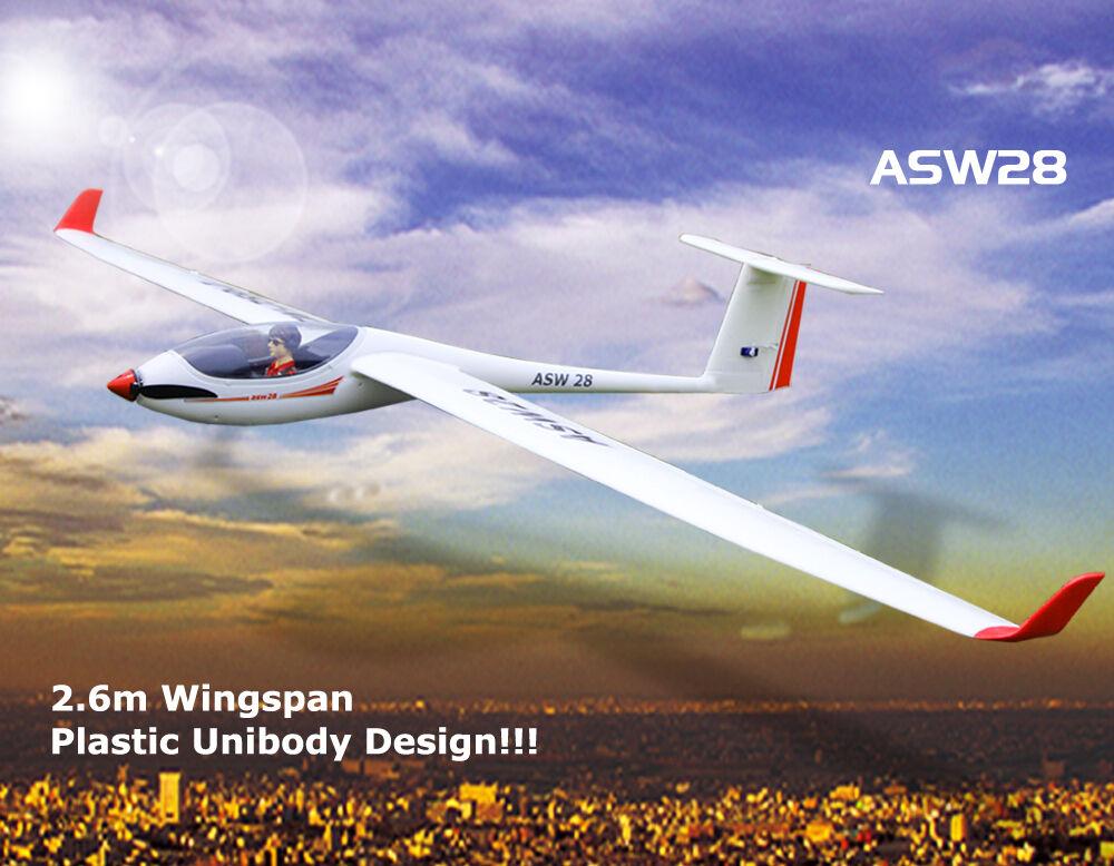 Volantex RC modello PNP ASW28 ALIANTE Elica Aeroplano Con Servo Motore ESC