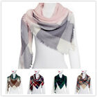 Women's Fashion Blanket Tartan Scarf Wrap Shawl Plaid Cozy Checked Pashmina