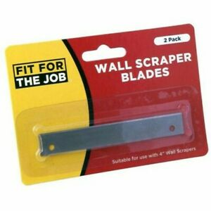 FFTJ-2-Pack-Of-Blades-for-4-034-Long-Handle-Wall-Scrapers-Trade-Replacement-Tools