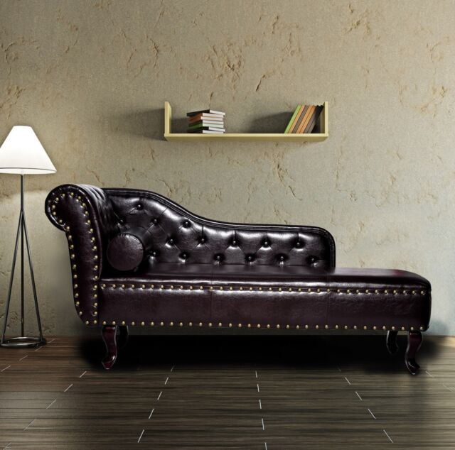 Relaxing Chaise Longue Brown Vintage Chair Chesterfield Lounge ...