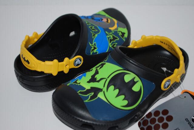 dfe2591ee917 Crocs Batman Custom Clog Glow in The Dark Black Size 4 5 for sale ...