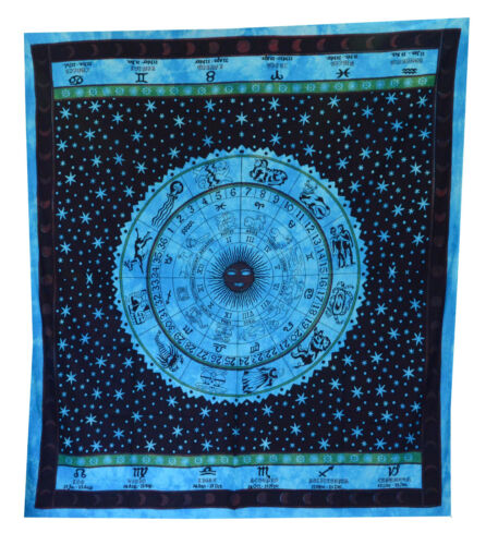 ASTROLOGY Indian Zodiac Hippie Hippy Wall Hanging Tapestry Bedspread Boho Ethnic