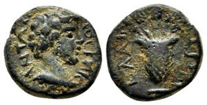 *AET* ELAIA (Aeolis) AE14. Marcus Aurelius. VF+. Kalathos. SCARCE ISSUE.