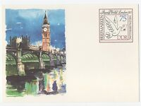 """alte DDR Ersttagspostkarte """"Briefmarkenweltausstellung  Stamp London 1990"""" /NEU!"""