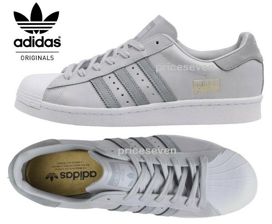 adidas superstar 80s solid grey tortoise shell