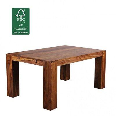 FineBuy Massiv Esstisch Sheesham 160-240 ausziehbar Holz Tisch Massivholz Neu