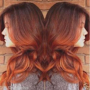 new brazilian remy human hair wig ombre copper red full lace wig lace front wig ebay. Black Bedroom Furniture Sets. Home Design Ideas