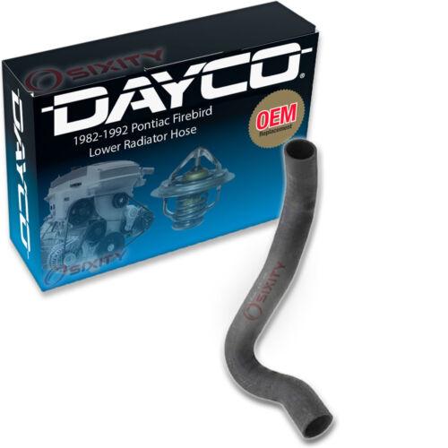 Dayco Lower Radiator Hose for 1982-1992 Pontiac Firebird 5.7L 5.0L V8 ez