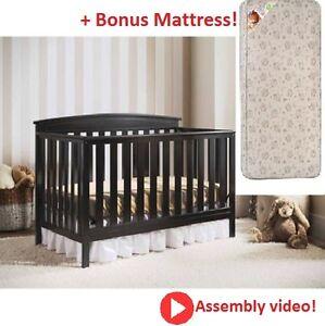 4 In 1 Convertible Baby Crib Mattress Bonus Toddler Child