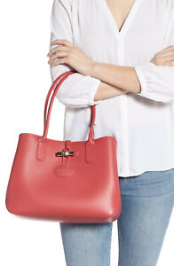 Details about Longchamp Roseau Small Shoulder Leather Tote Bag ~NWT~ Fig