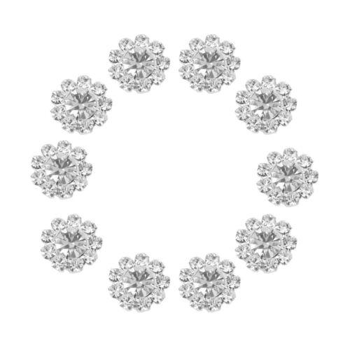 20 x klar Crystal l Button Flatback Dekor DIY Handwerk Verzierung 12mm