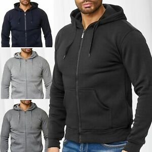 Hommes-Veste-Capuche-Zip-Hoodie-Training-Veste-Sweat-Veste-Pull-Outdoor