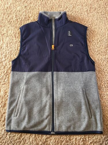 GapFit Boys Vest Gap Outerwear Msrp $30 Navy Gray NWT