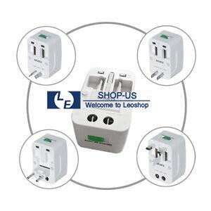 Universal US EU UK AU Wall AC Charger Power Plug World Travel Adapter Converter