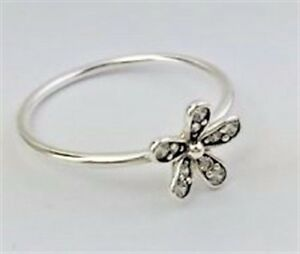 e5fa2aa2c Image is loading Genuine-Pandora-Sterling-Silver-Dazzling-Daisy-Ring-Size-