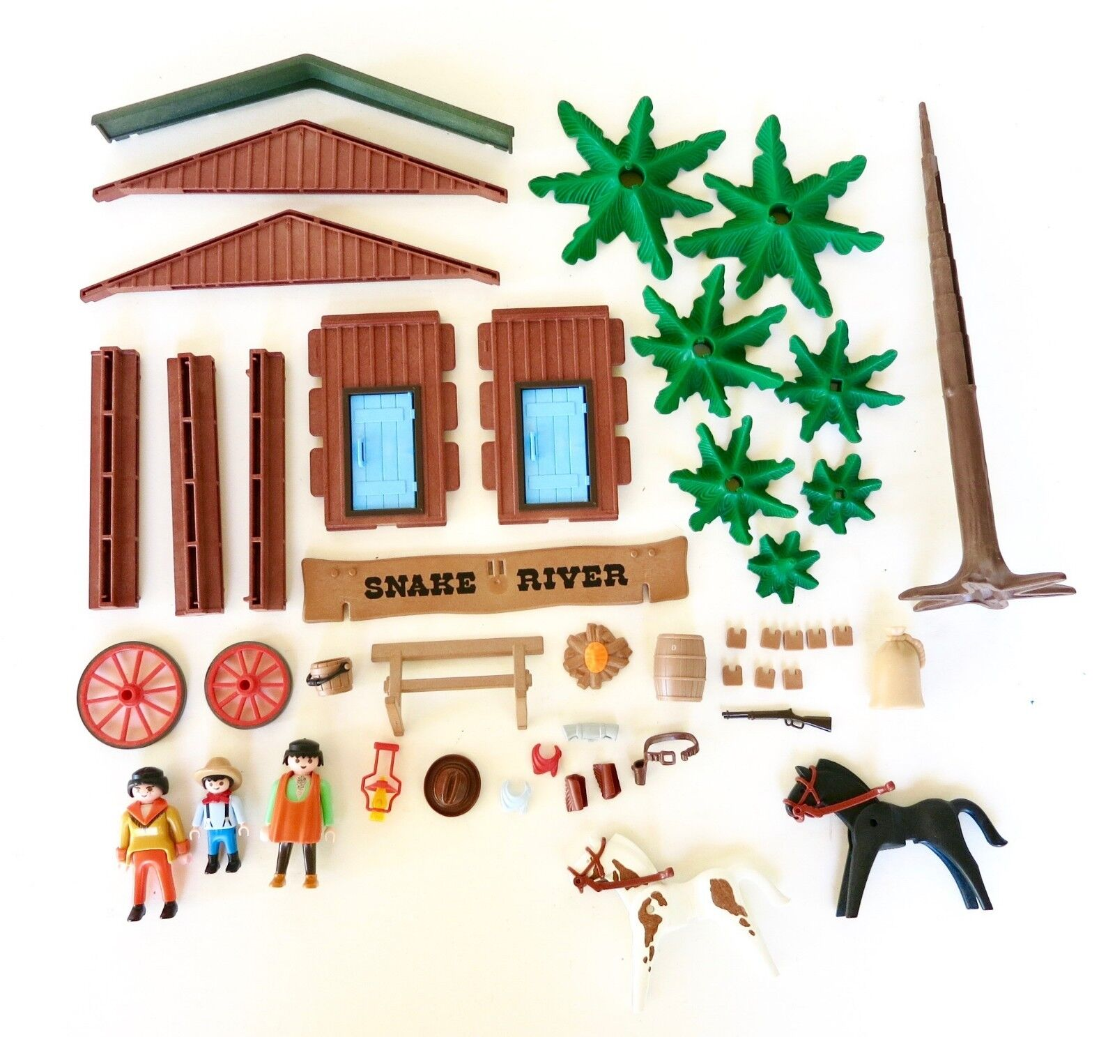 PLAYMOBIL Western Snake River Ranch Set 3805 Incomplete