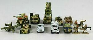 Vintage-micromaquinas-Galoob-Lote-de-14-figuras-militares-Tanque-Lanzador-De-Misiles