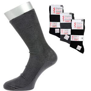 4 Paar Damen Socken ohne Gummi Diabetiker Baumwolle Rippe 4 Farben 35 bis 42