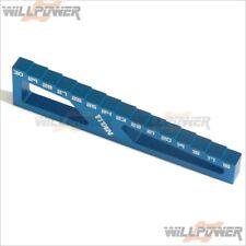 C23060BLUE Alloy Droop Gauge+Ride Height Gauge for 1//8 w//Droop Stands 60mm