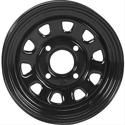 ITP Delta Steel 12x7 4x156mm Steel 2-piece Black Gloss Each Wheel 1225579014