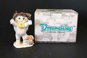 Vintage-1995-Dreamsicles-Collectible-Figurines-Signature-034-I-Love-You-034