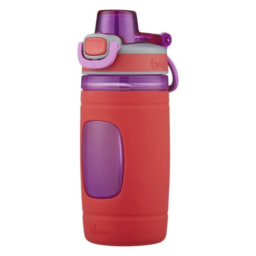 Bubba Flo 16oz Coral Reef Kids Spout Lid Water Bottle with Silicone Sleeve