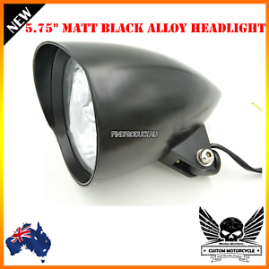 5-3-4-034-Matt-black-billet-alloy-bullet-headlight-Harley-Sportster-Chopper-Bobber