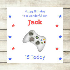 Item 4 PERSONALISED Birthday Card Son Brother Nephew Xbox 10th 12th 13th 16th Teenager