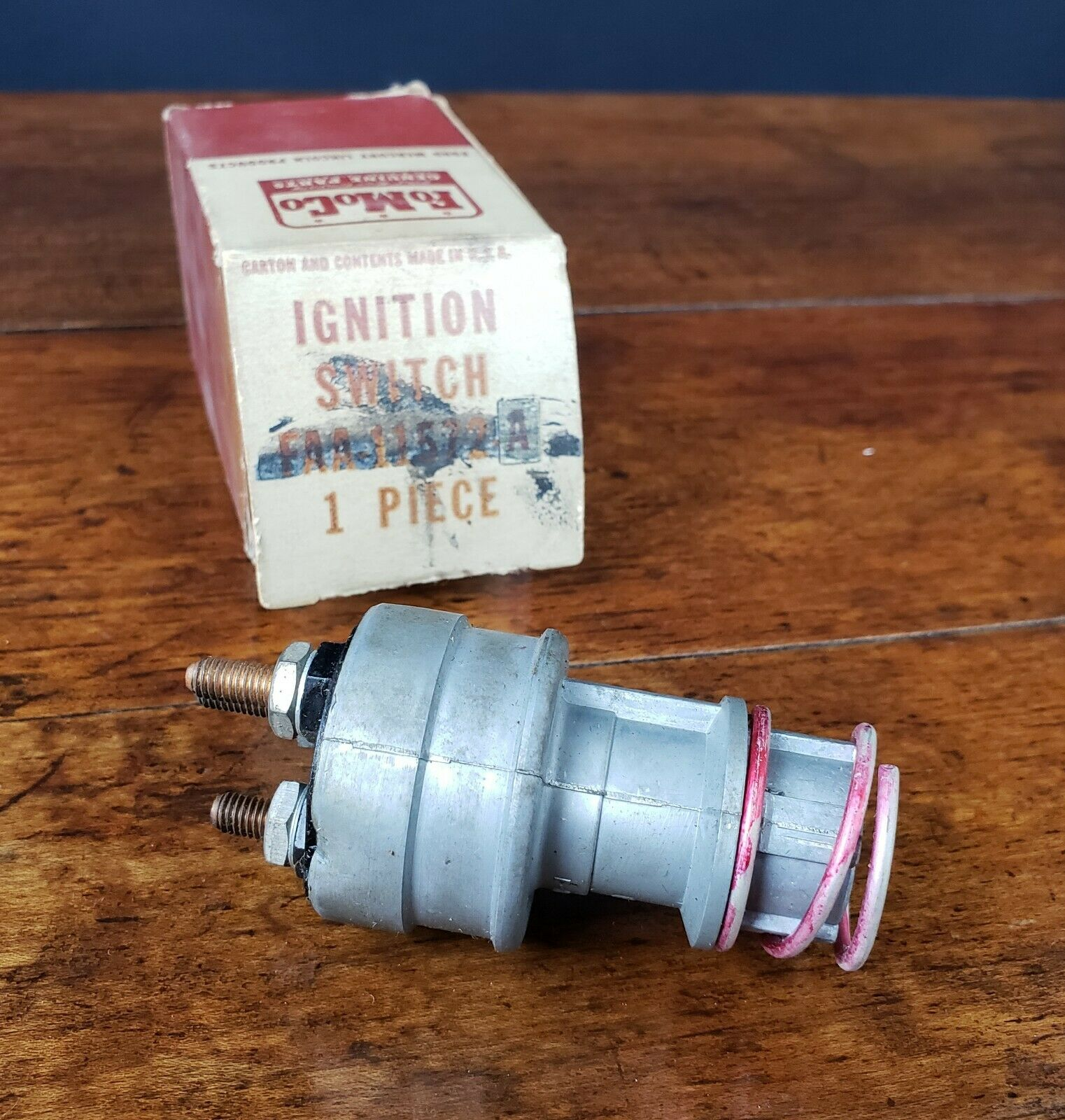1953-55 FORD F100//250 /& CAR IGNITION SWITCH HOUSE NO CYLINDER /& KEYS FAA-11572-A