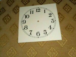 "Square PAPER (CARD) Clock Dial - 5 1/4"" MINUTE TRACK - Arabic - MATT CREAM-Parts"