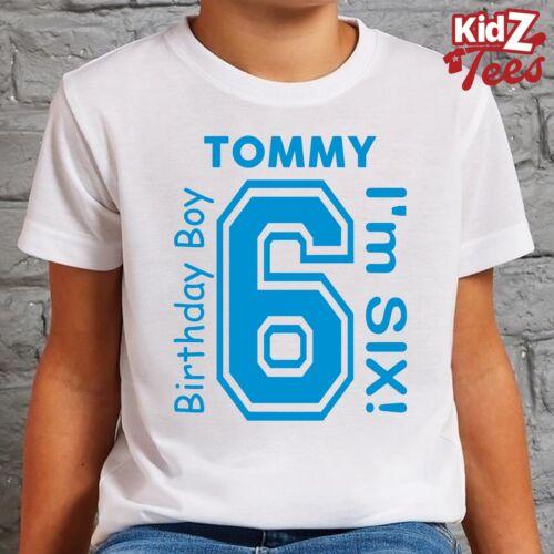 Kids PERSONALISED Birthday Boy Girl T-Shirt TShirt Tee Ages 3-8 Years