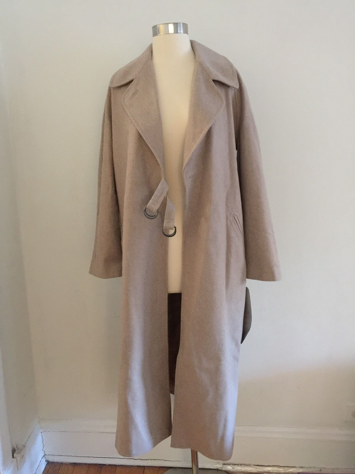 NWT ASOS Longline Coat in Oatmeal Size Us4